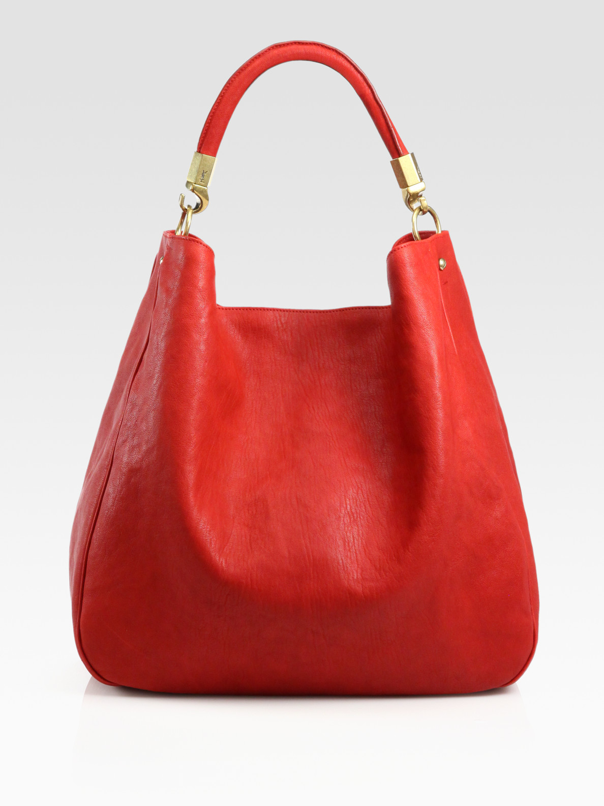 Saint laurent Ysl Large Leather Roady Hobo in Brown (poppy) | Lyst