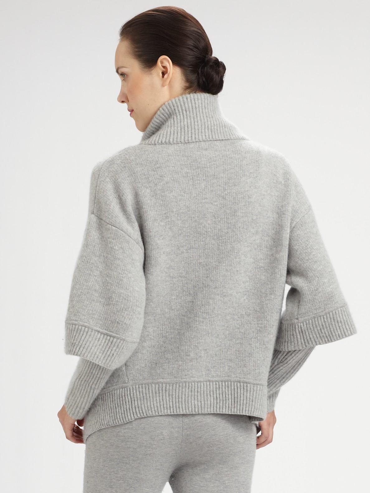 donna karan stretch cashmere blend track pants in black lyst. Black Bedroom Furniture Sets. Home Design Ideas