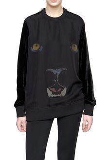 Givenchy Long Sleeved Velvet Sweater with Panther Print - Lyst