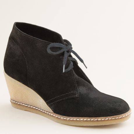 j crew macalister wedge boots in black lyst