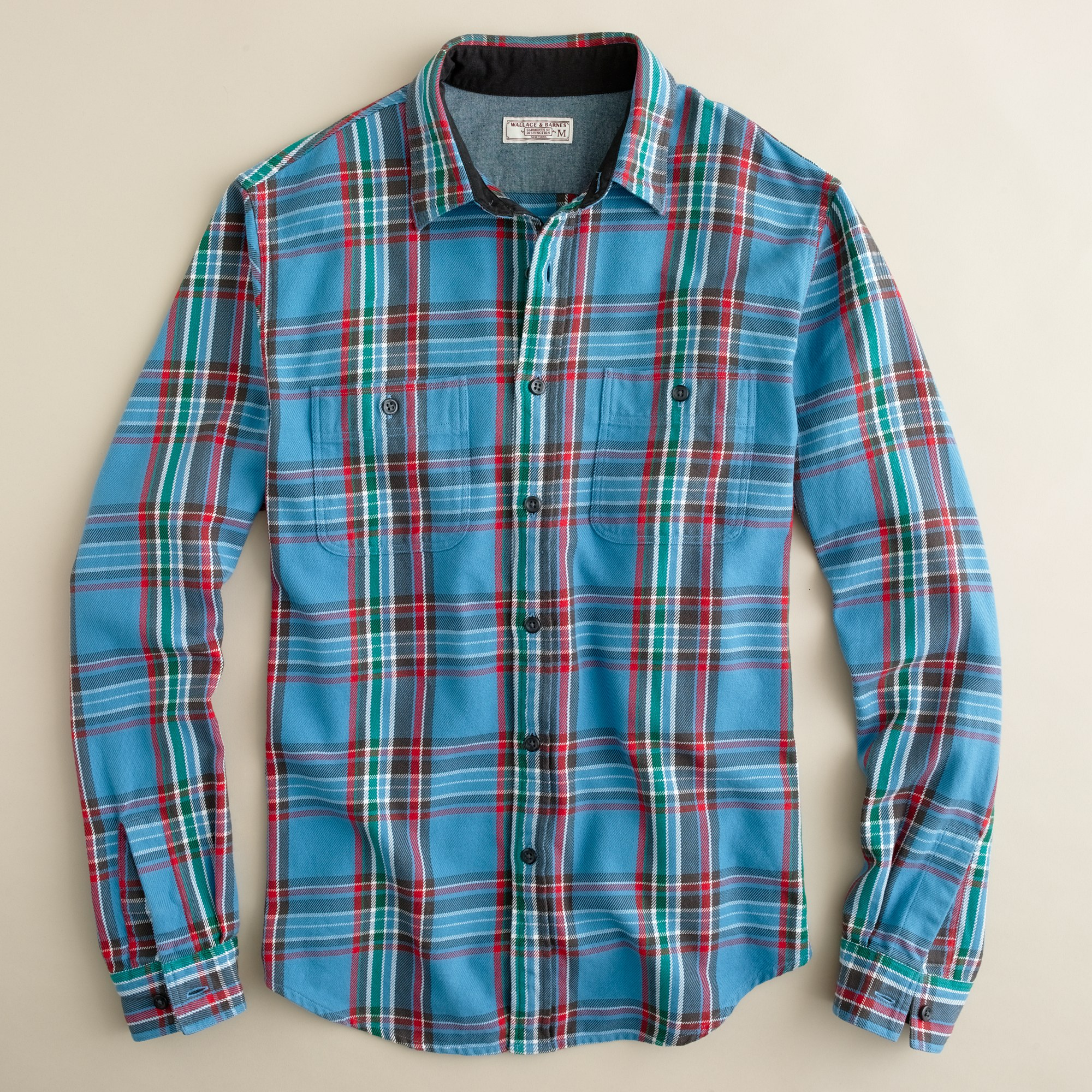 Wallace Barnes Heavyweight Flannel Shirt In