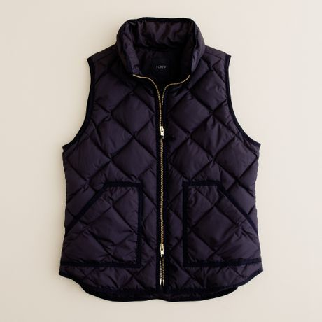 J.crew Excursion Quilted Vest in Blue (dark navy)