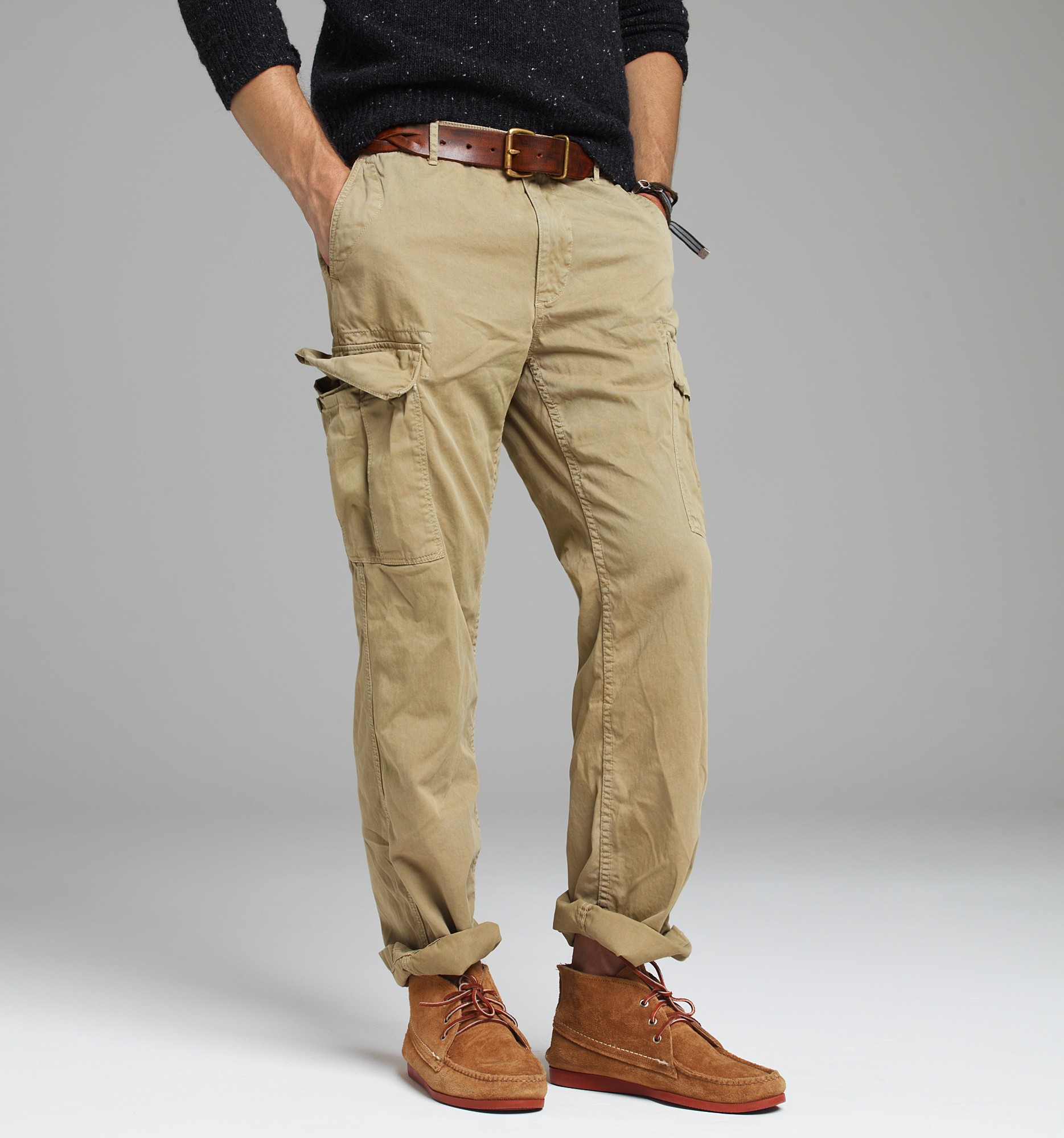 J Crew Stanton Cargo Pant In Urban Slim Fit In Natural For