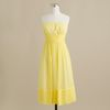 J.crew Juliet Dress in Silk Chiffon in Yellow (frosted citrus) - Lyst