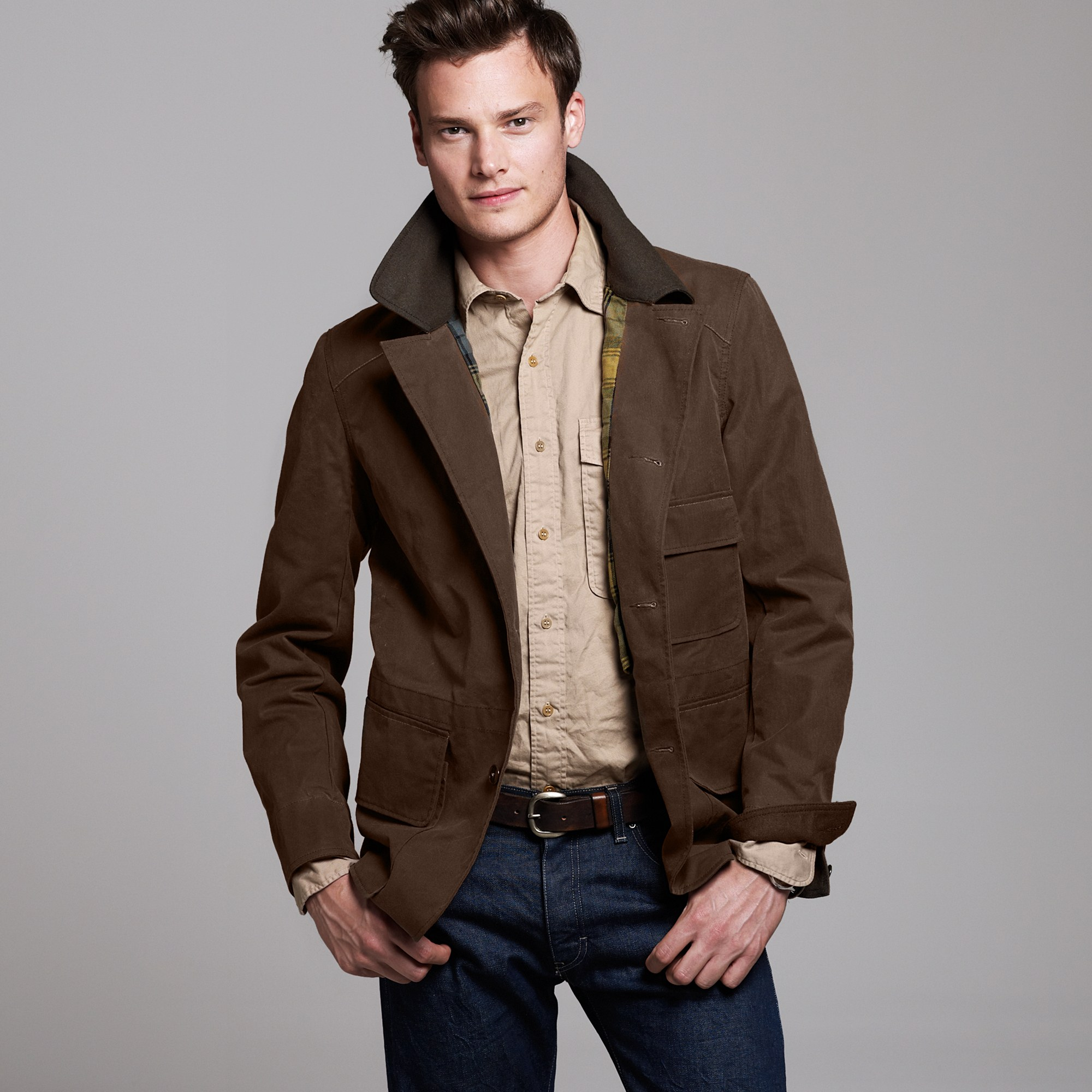 J.Crew Wallace & Barnes Brush Jacket in Brown for Men - Lyst