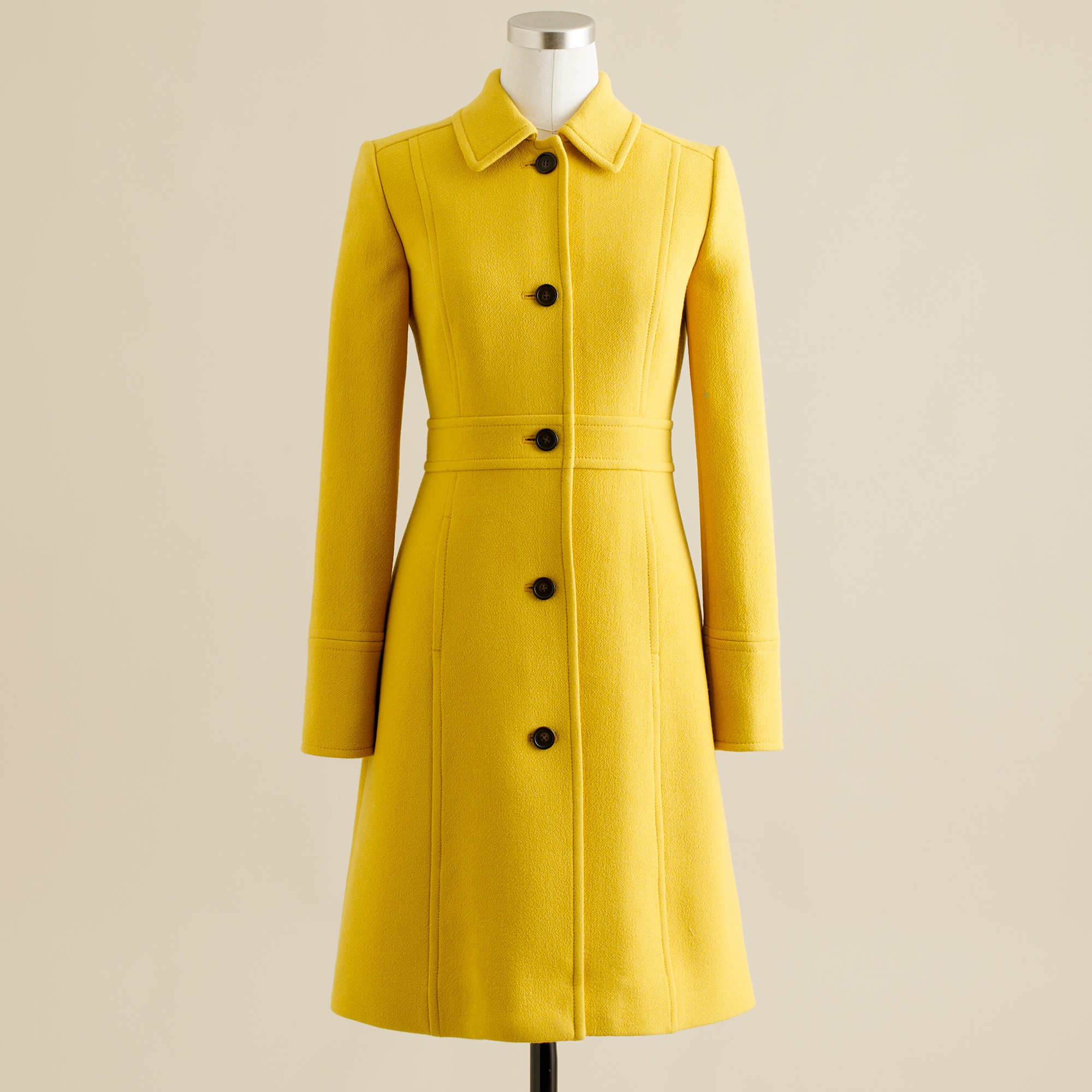 b972ceb41 J.Crew Yellow Double-cloth Lady Day Coat with Thinsulate®