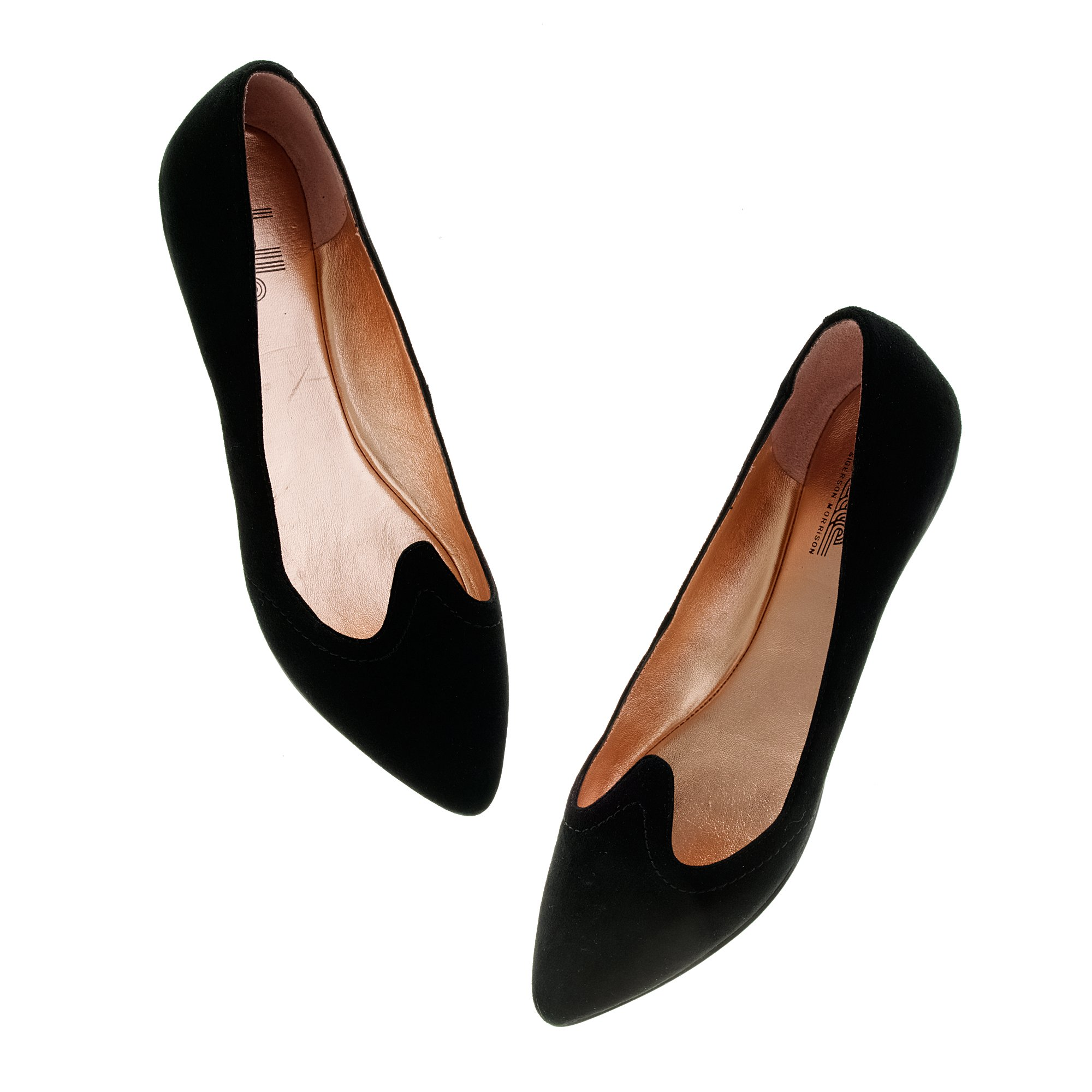 3c32accff Madewell Belle By Sigerson Morrison® Suede Flats in Black - Lyst