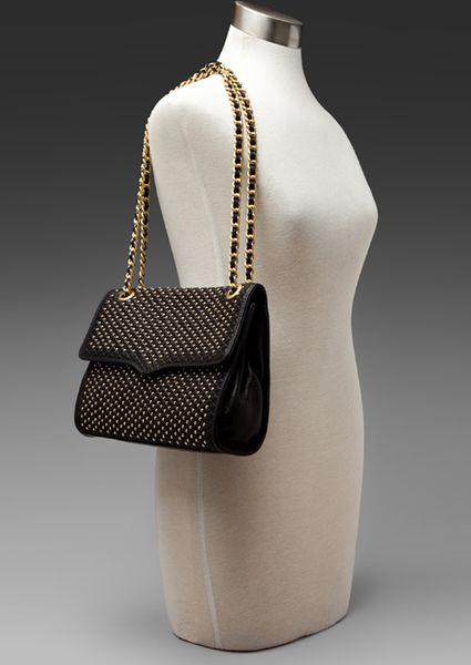 DAVID JONES Faux Leather Patchwork Satchel Handbag,BLK Sales