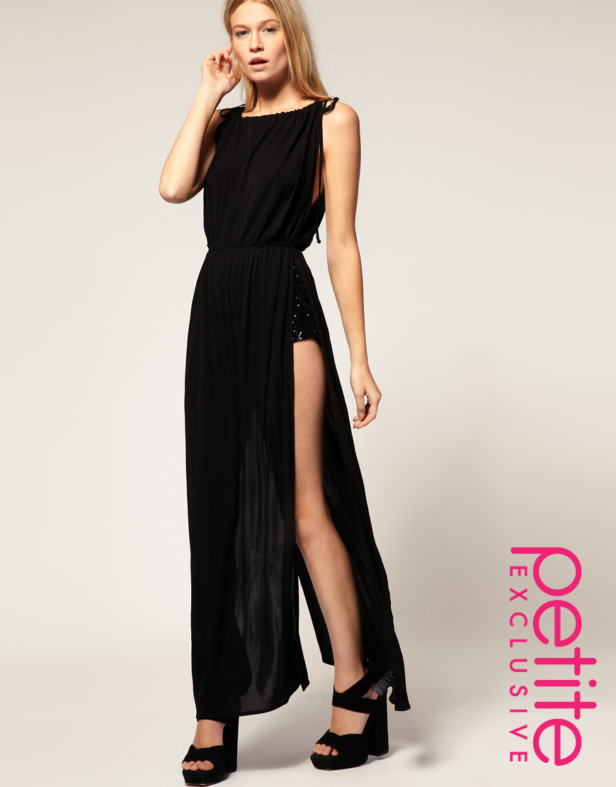 Asos collection Asos Petite Exclusive Maxi Dress with Split Sides ...