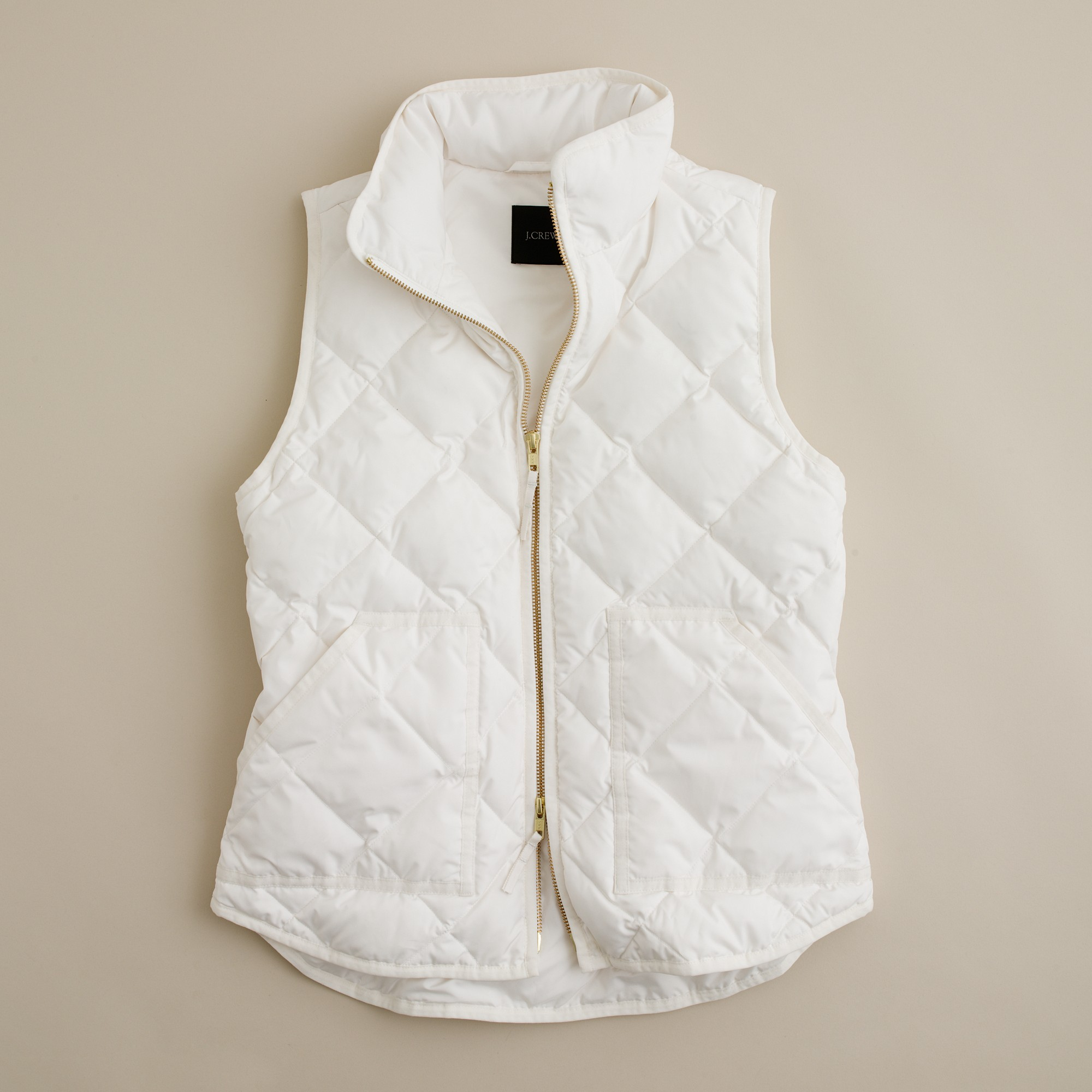J Crew Excursion Quilted Vest In White Lyst