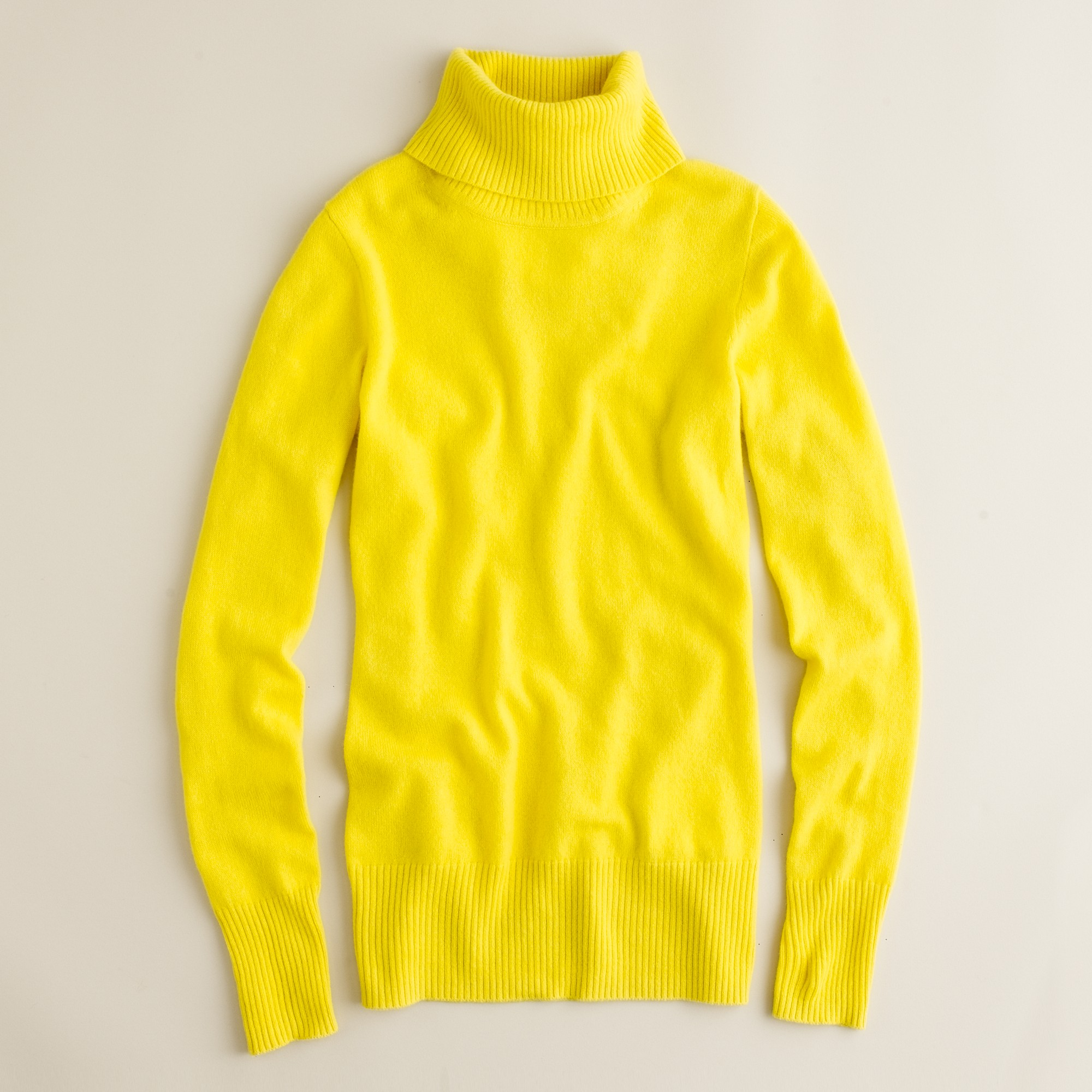 J.crew Cashmere Turtleneck Sweater in Yellow | Lyst