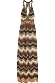 M Missoni Crochet-knit Halterneck Maxi Dress - Lyst
