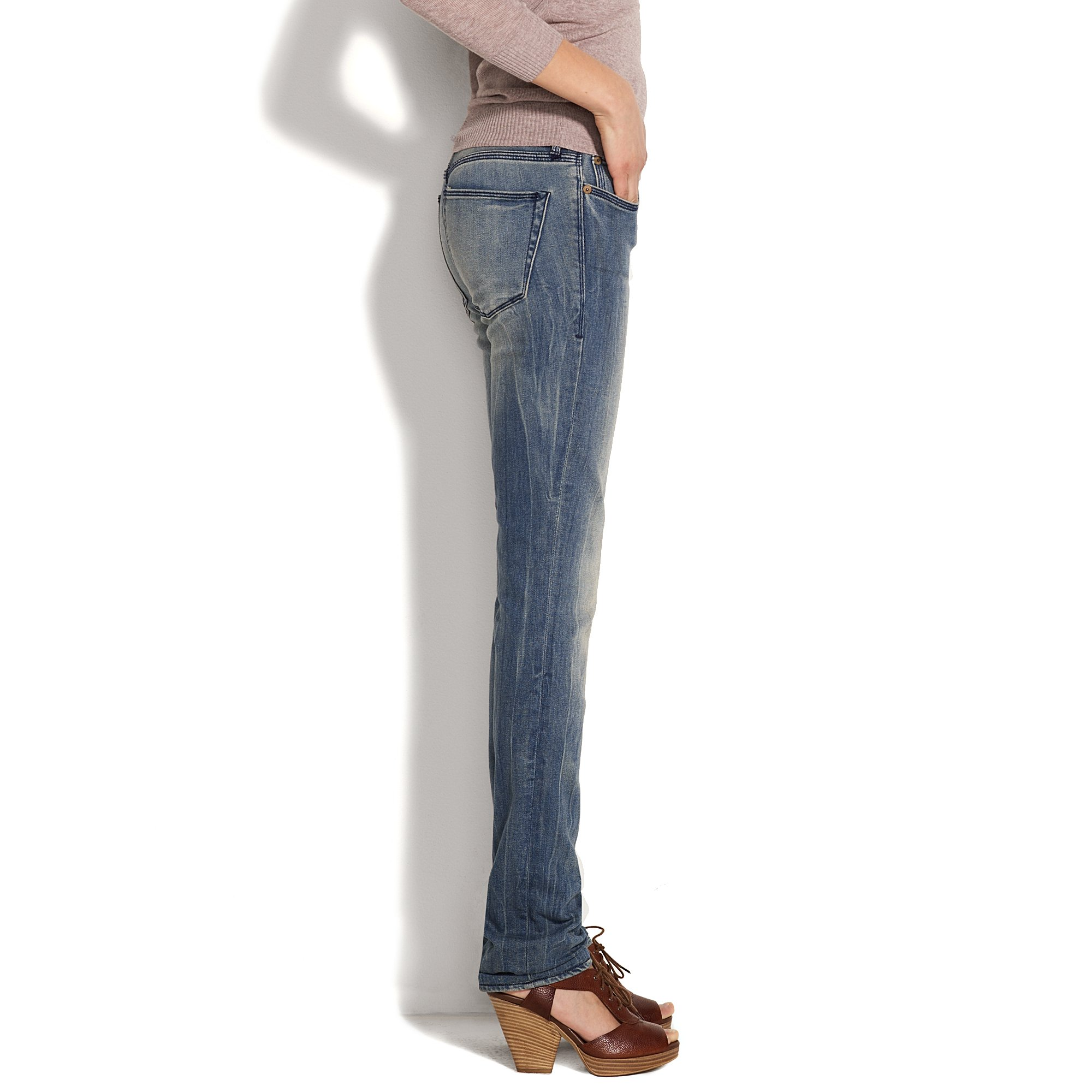 buy best quite nice multiple colors Madewell Rail Straight Jeans in Falcon Wash in Blue - Lyst