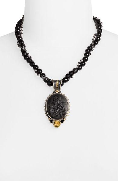 Mars And Valentine Underworld Hypnos Necklace In Black
