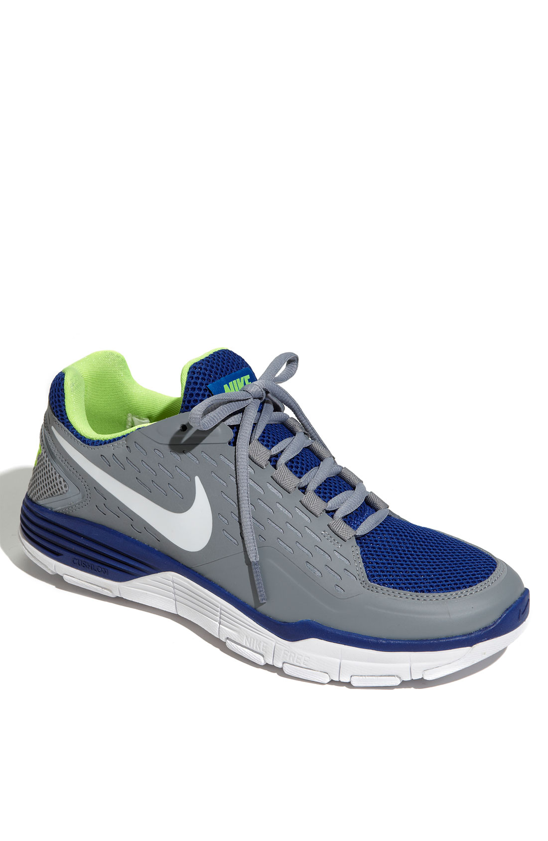 Nike Free Xilla Training Shoe In Blue For Men (stealth/ Blue/ Volt/ White) | Lyst