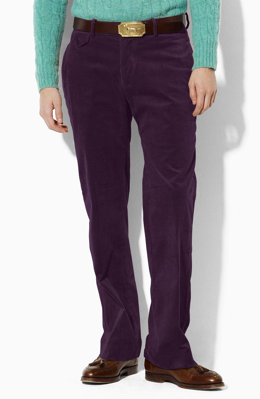 Polo ralph lauren Corduroy Pants in Purple for Men | Lyst