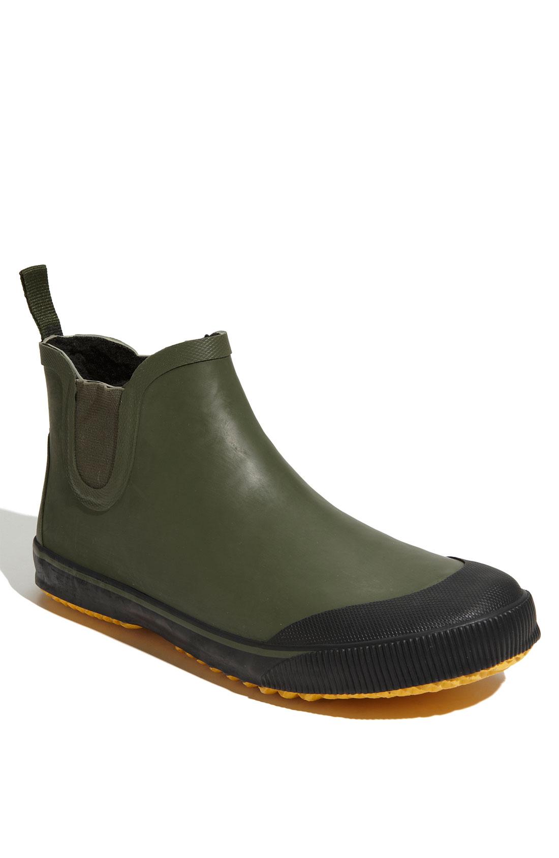 Tretorn Strala Rain Boot In Black For Men Olive Black