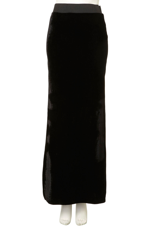topshop velvet slit maxi skirt in black lyst