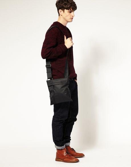 сумка Calvin Klein мужская чёрная через плечо.