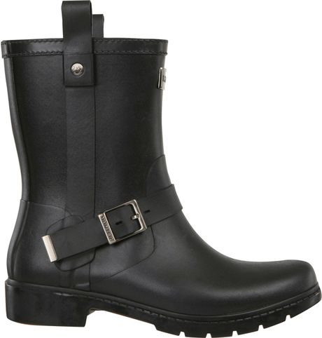 Hunter Mens Shoreditch Wellington Boots Black In Black For