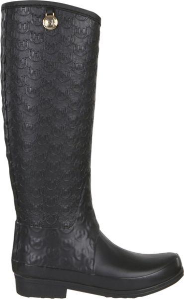 Hunter Regent Motcomb Wellington Boots In Black Lyst