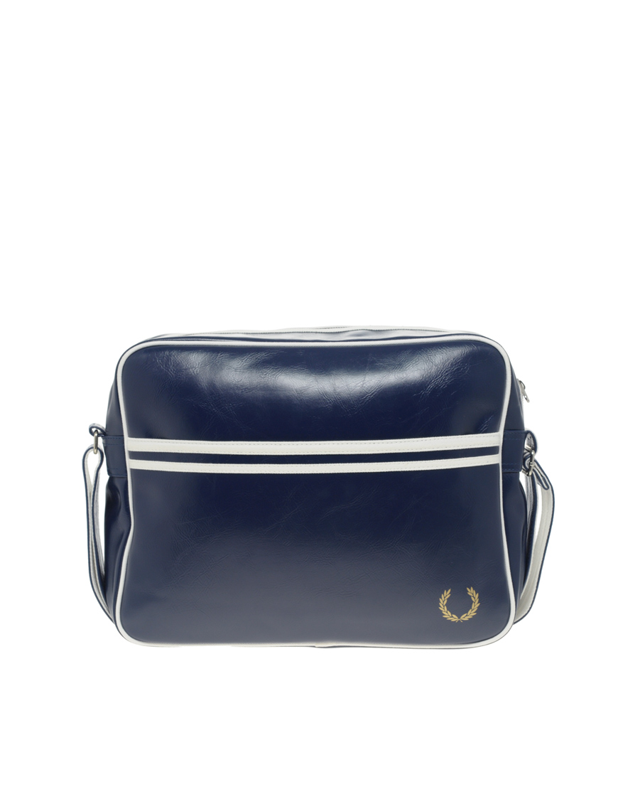 Fred Perry Messenger Bag In Navy Blue For Men Lyst