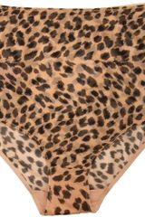 Stella McCartney Marguerite Riding Leopard Brief