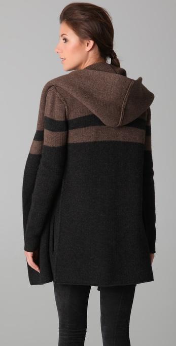 Vince Blanket Sweater Coat in Black | Lyst