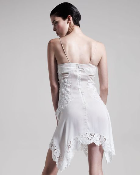 Givenchy Lace Camisole Dress in WhiteWhite Camisole Dress
