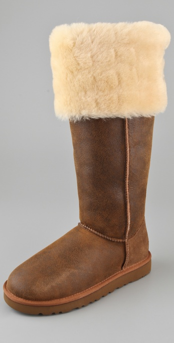 Lyst Ugg Over The Knee Bailey Button Boots In Brown