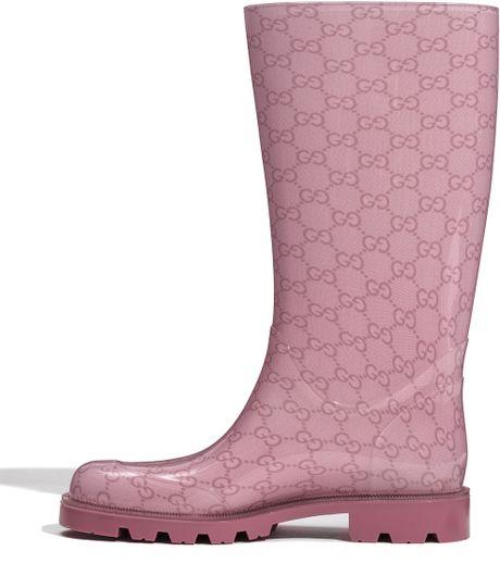 Fantastic Gucci Rubber Waterproof Rain Boot In Black Nero  Lyst
