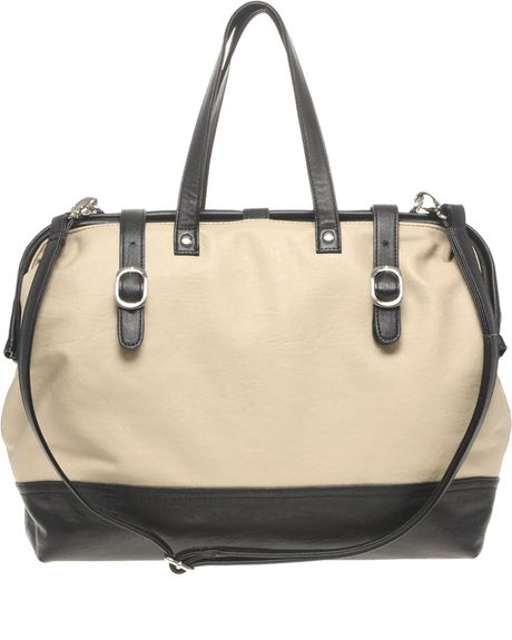 Asos Collection Asos Oversized Doctors Frame Bag in Beige (winterwhite)