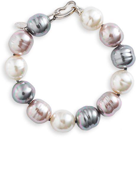 Majorica 14mm Baroque Pearl Single Row Bracelet In