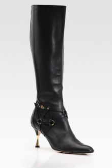 Oscar de la Renta Horsy Piedi Nappa Leather Knee-high Boots - Lyst