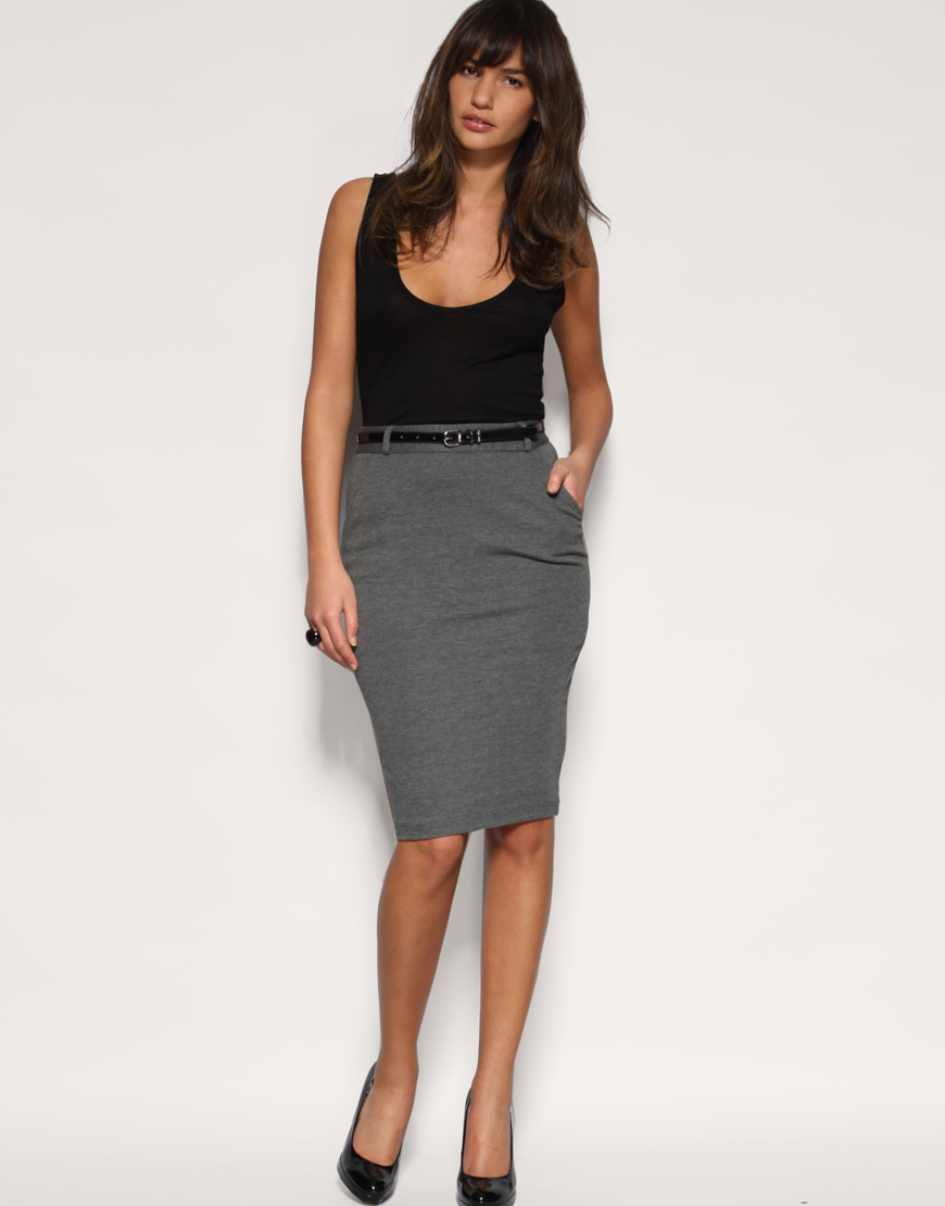 Lyst Asos Collection Asos Tailored Belted Ponti Pencil