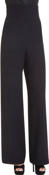 Saint Laurent High Waisted Pant in Blue (black)