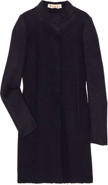 Marni Virgin Wool Coat in Blue - Lyst