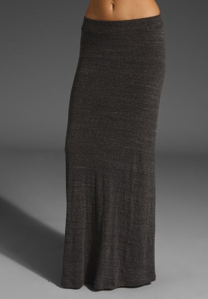 Quiksilver Blizzard Maxi Skirt In Gray Charcoal Heather