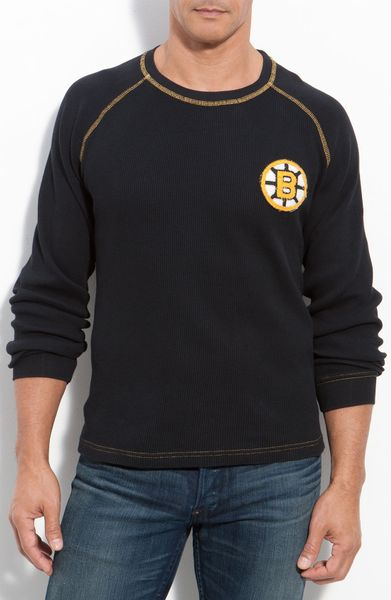 Red jacket fahrenheit boston bruins thermal t shirt in for Mens black thermal t shirts