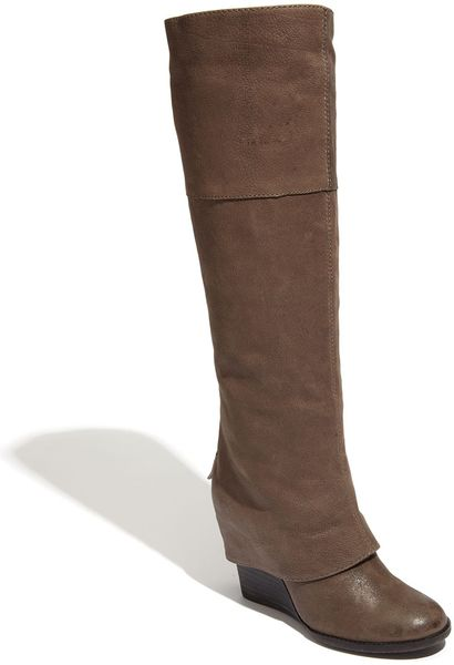 Vince Camuto Abril Boot In Gray Granite Lyst