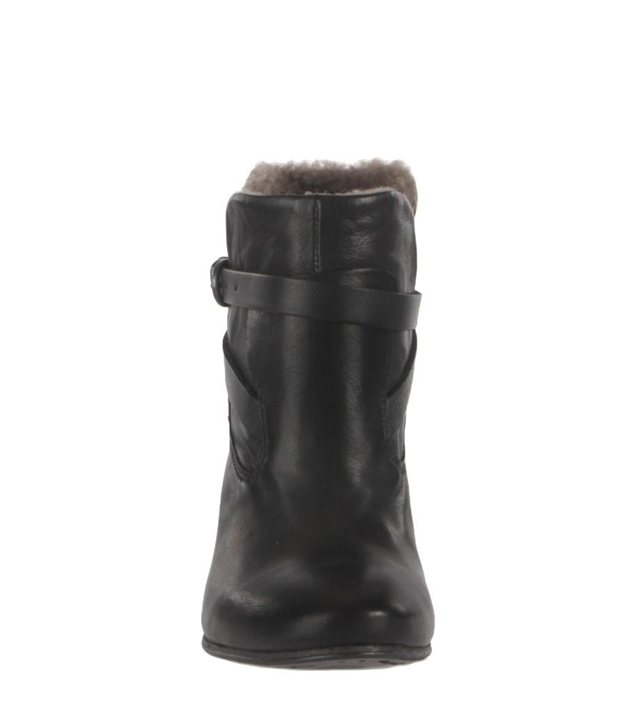 1b31bdf514eb77 Lyst - AllSaints Shearling Hyde Boot in Black