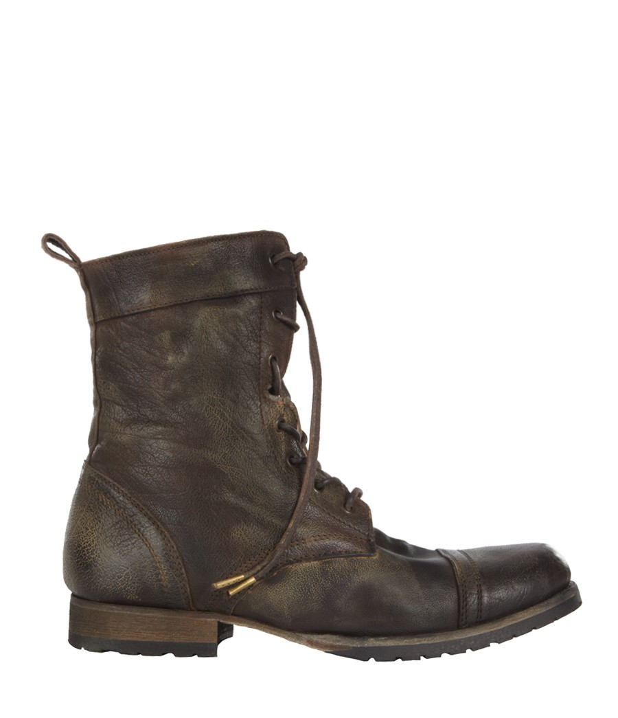allsaints spire boot in brown for lyst