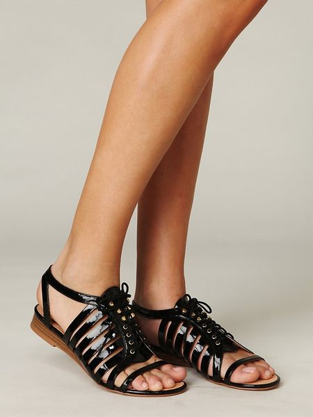 Free People Gladiator Sandal In Black Lyst