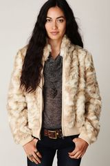 Free People Fur Bomber