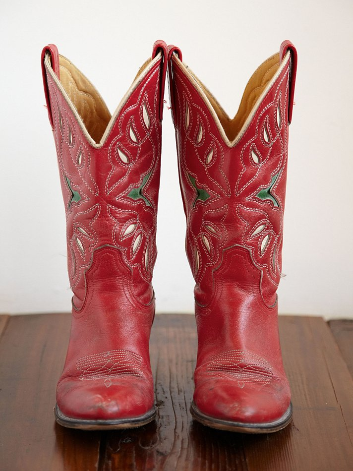 aaefd81d31a Free People Red Vintage Cowboy Boots