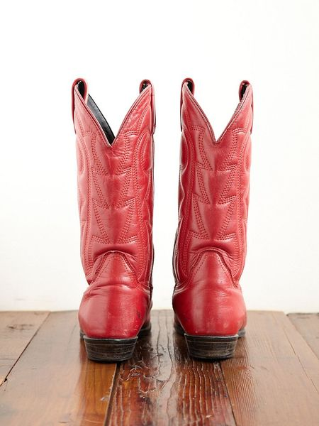 Free People Vintage Cowboy Boots In Red Lyst