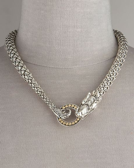 John hardy naga dragon necklace in silver lyst for John hardy jewelry factory bali