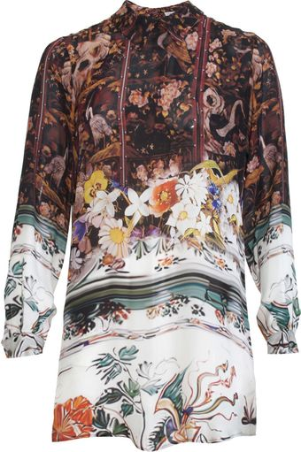 Mary Katrantzou Floral Blouse Dress - Lyst