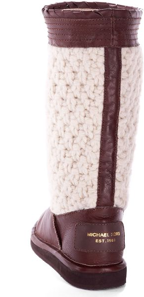 Michael Kors Winter Knit Boot Mocha In Brown Mocha Lyst