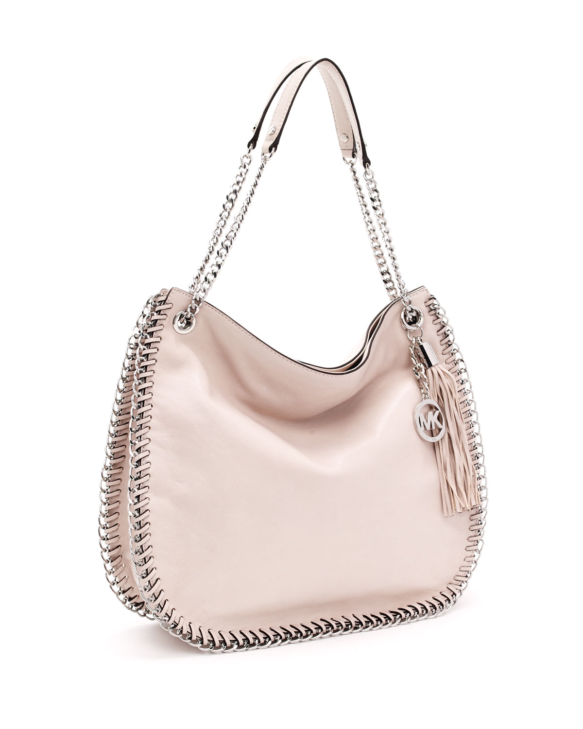 b18d1fbc92bf Michael Kors Large Chelsea Shoulder Bag, Vanilla in Pink - Lyst